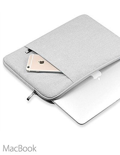 "A Tailor Bird Housse de Protection Ordinateur 15.6"", Pochette PC Portable Ultrabook Sacoche Laptop Compatible 15.6 Pouces - Gris Clair"