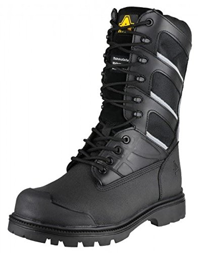 Amblers Safety Mens FS994 Leather Waterproof Safety Boots Black Black