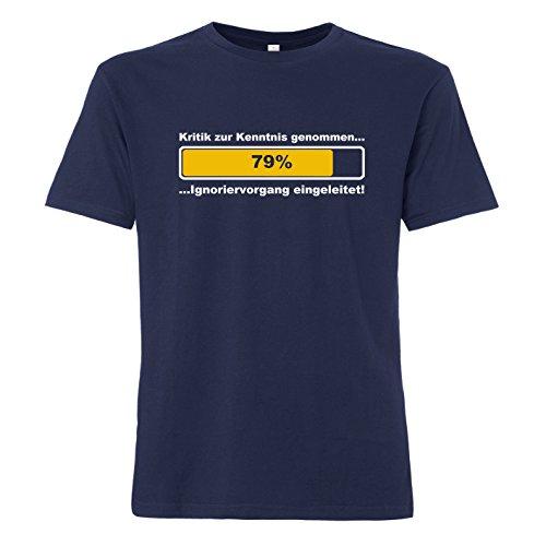 ShirtWorld - Kritik zur Kenntnis genommen - T-Shirt Navy