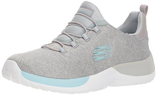 Skechers 12991/LGAQ Dynamight-Break-Through Damen Sneaker grau/türkis, Größe:37, Farbe:Grau