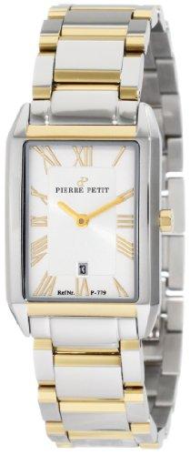 Pierre Petit P-779D - Reloj analógico de cuarzo para mujer con correa de acero inoxidable, color multicolor