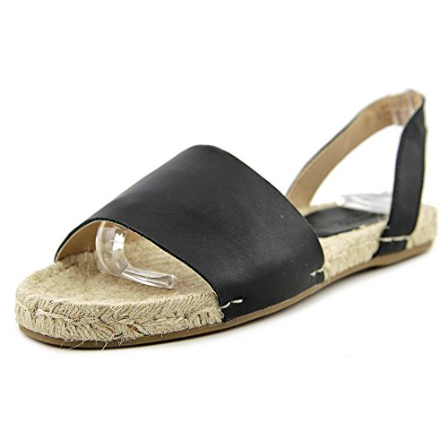 Soludos Slingback Sandal Leather Cuir Sandale Black