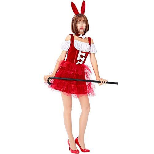 YyiHan Halloween Kostüm, Outfit Für Halloween Fasching Karneval Halloween Cosplay Horror Kostüm,Bunny Girl Süße Pettiskirt Bar Party Performance Kostüm Kaninchen Cosplay Kostüm (Anime Bunny Girl Kostüm)