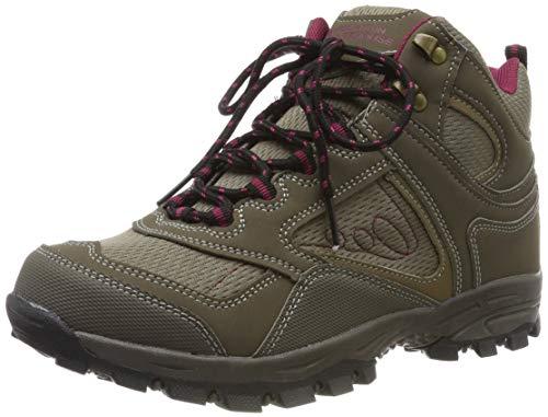 Mountain Warehouse Stivali Comodi da Donna McLeod - Stivali alla Caviglia Traspiranti, Stivali da Trekking robusti, Scarpe da Passeggio Leggere Imbottite - da Viaggio Marrone 39