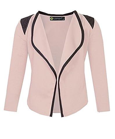 Girls Blazer Jacket with Shoulder Detail in Peach 13-14 Years