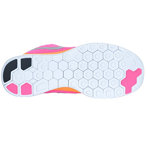 Nike Free 5,0 (GS) Pennino leggero corsa Sport scarpa bambino bambina rosa potenza - rosa