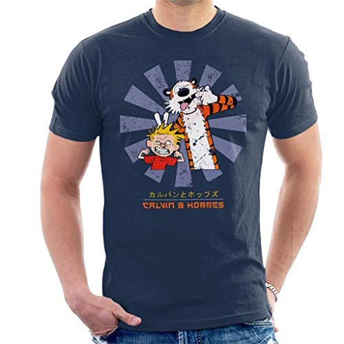 Cloud City 7 Calvin and Hobbes Retro Japanese Men's T-Shirt