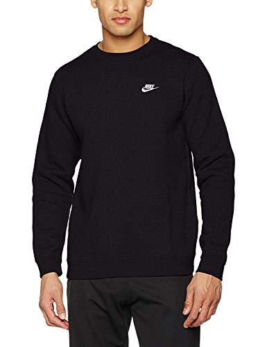 Nike Herren Sportswear Crew Fleece Club Sweatshirt, Mehrfarbig (Black/White), XL