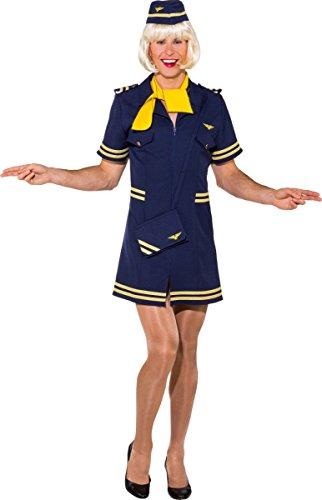 Herren Kostüm Stewardess Karneval Fasching Travestie Gr.58/60