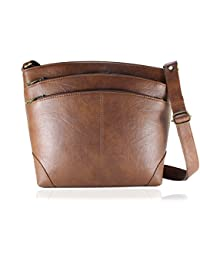 Fargo Sun dry PU Leather Women s   Girl s Side Sling Shoulder Bag  (Brown FGO- 1a532a9e1f20f