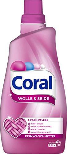 Coral flüssig Feinwaschmittel Wolle & Seide 40 WL 2er Pack (2 x 20 WL)