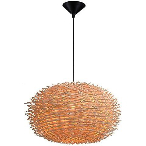 Vashti lámpara colgante/Tubo de luz/lámpara de techo/Americanas esstischlampe/Plafón/proyección cuerda hängel lámpara araña techo Pastoral ratán Nest