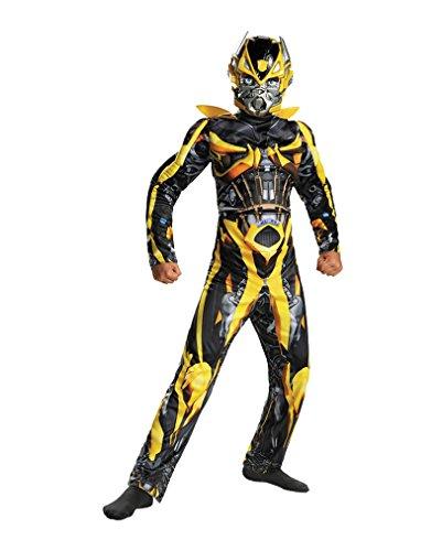 Muskelbepacktes Transformers Bumblebee Kinderkostüm S (Bumblebee Kostüm Für Kinder)