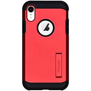 Spigen [Tough Armor] iPhone XR Case 6.1 inch with Reinforced Kickstand and Heavy Duty Protection and Air Cushion Technology for iPhone XR (2018) - Red