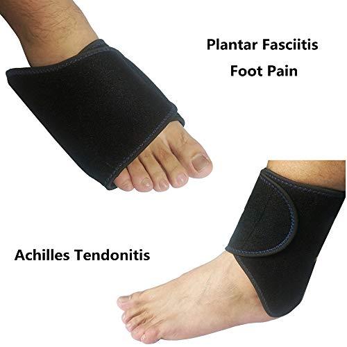Kühlpads Coolpacks Gel Kühlkissen Kalt Warm Kompresse für Knöchel Fuß - Verletzungen der Achillessehne, Plantarfasziitis, Bursitis, Wund Füße - Knöchel-verletzung Behandlung