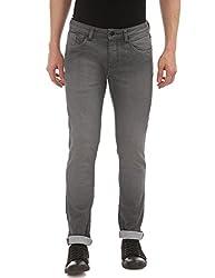 Arrow Jeans Mens Straight Fit Jeans (AJVJN2816_Black_36W x 34L)