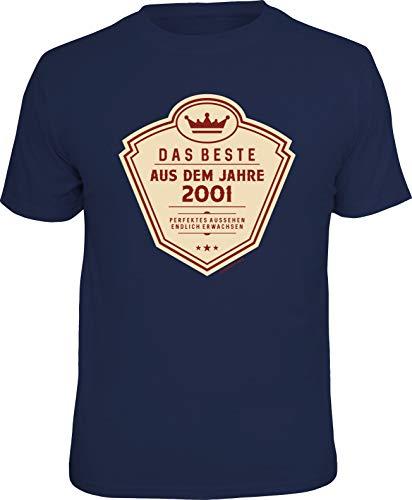 Das Geschenk T-Shirt zum 18. Geburtstag - Endlich volljährig, Das Beste, M