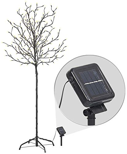 Lunartec Solarbaum: XL-Solar-LED-Lichterbaum mit 200 beleuchteten Knospen, 150cm, IP44 (LED Deko Baum)