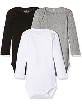 NAME IT Unisex Baby Strampler, 3er Pack