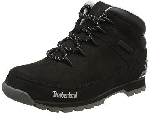 Timberland Euro Sprint Hiker, Botas Chukka para Hombre, Negro (Black/Grey 15), 44 EU