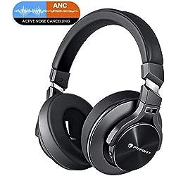 Casque Bluetooth sans Fil Fermé Noise Cancelling,Reduction de Bruit avec Son Etéréo Hi-FI pour Téléphones, PC,Télévision