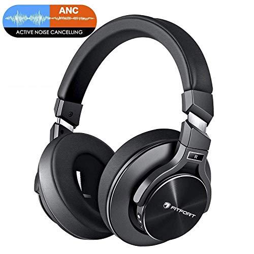 Bluetooth Kopfhörer Noise Cancelling - HiFi Stereo Drahtlose Headset Over Ear mit Mikro Lautstärkeregler für Alle Geräte mit Bluetooth oder 3,5 mm Klinkenstecker thumbnail