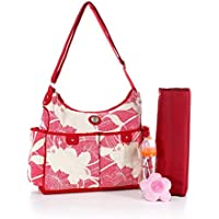 COLORLAND Charlotte Hobo Baby Changing Bag, Red Flower preiswert