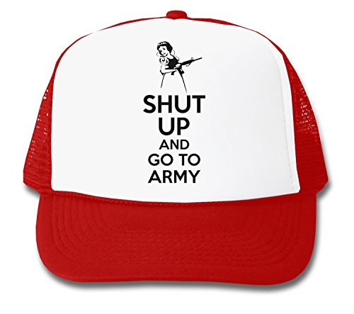 ShutUp and Go to Army Trucker Cap