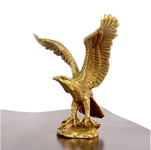 "EZQYC Skulpturen Deko Dekoration Kupfer Handwerk Messing Messing Statue Adler/Hawk Abbildung Figur 4,5\""Hohe Skulptur Großhandel Fabrik Messing Kunst"