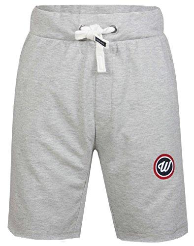 WOLDO Athletic Herren Sweatshorts Sport Fitness Freizeit Gym Shorts Trainingshose kurze Hose Slim Fit Grau Evans