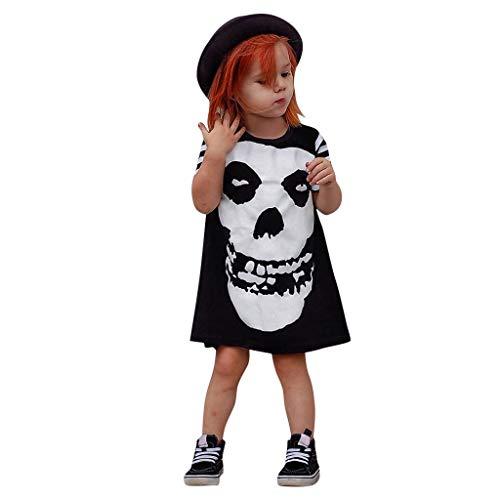 Romantic Kleinkind Kinder Baby Mädchen Jungen Halloween Kostüme Kurzarm Kleid Gestreift Schädel Gedruckt Kinderkostüm Strampler Mädchen Outfits Spielanzug Spielanzug Halloween Kleidung