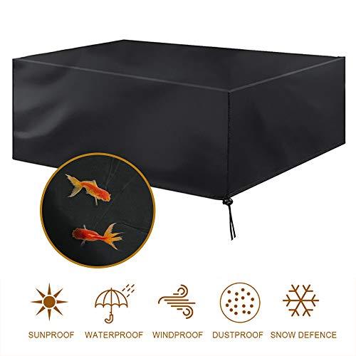 MORIASTER Coperture per Mobili da Giardino,Coperture per GiardinoRettangolari Copertura per Tavolo da Esterno Tessuto (200 * 160 * 70)