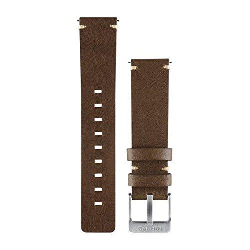 Garmin - Bracelet de Rechange pour Montres Vivomove - Cuir - Marron Foncé