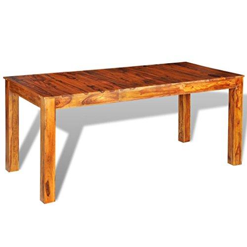 vidaXL Table de Salle à Manger rectangulaire Palissandre Massif 180x85x76 cm
