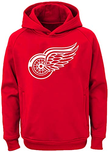 Outerstuff NHL Youth 8-20 Team Color Performance Primary Logo Pullover Hoodie Hoodie, Jungen, Detroit Red Wings Red, X-Large 18/20 US -