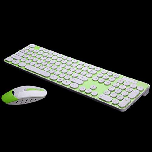 Price comparison product image LN Mute wireless keyboard mouse set notebook desktop computer keyboard mouse set , green