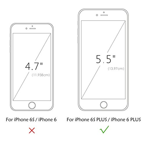 Sunroyal iPhone 6 Plus 6S Plus (5.5 Zoll) Hülle Blau Blue TPU Case Schutzhülle Silikon Rückseite Klar Clear Case Durchsichtig Bumper Zurück Bling Crystal Kirstall Diamant Strass Rhinestone Frame Rahme Rosa