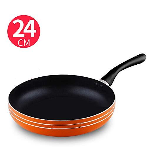 Apgtbxm Poêle à frire antiadhésive poêlon à steak frit casserole à induction cuisinière à induction multifonctions au gaz poêle universelle IKEA Spécifications 24/26 / 28cm (24CM)