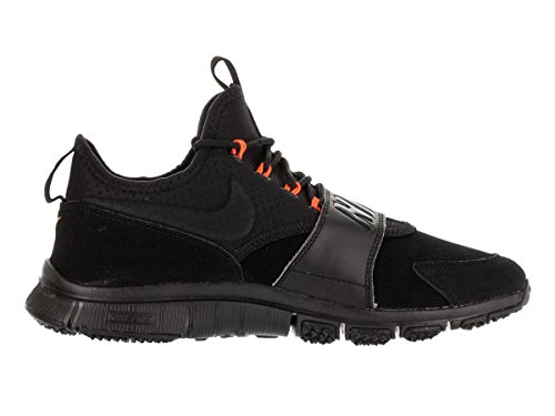 Nike  Free Ace Lthr, chaussures de football homme Noir / Orange (Black / Black-Hyper Orange)
