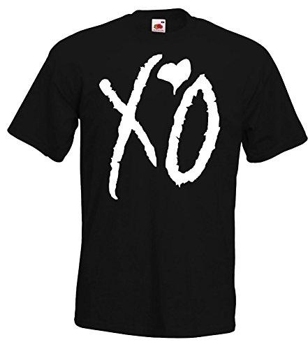 TRVPPY Herren T-Shirt Modell XO The Weeknd, Schwarz, L