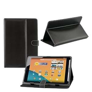 iProtect PU Leder Tasche für MEDION LIFETAB Schutz Hülle Case mit Stylus PEN für S7852 MD98625 7,85 Zoll schwarz