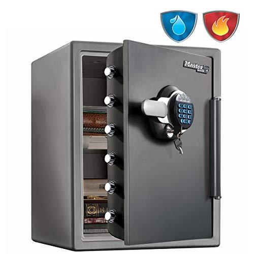 Master Lock  Caja Fuerte de Seguridad [Ignifuga y Resistente al Agua] [llave y Combinación Digital]...