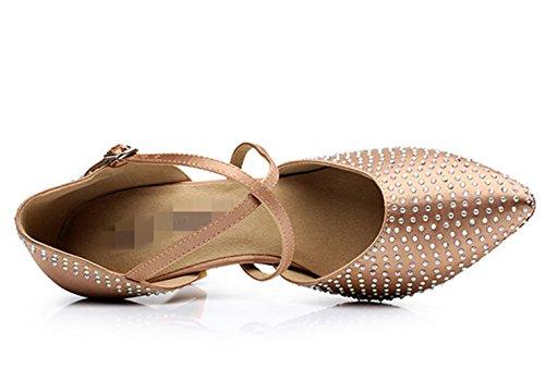 Femmes chaussures de danse latine / chaussures de danse professionnelle de formation / soft golden