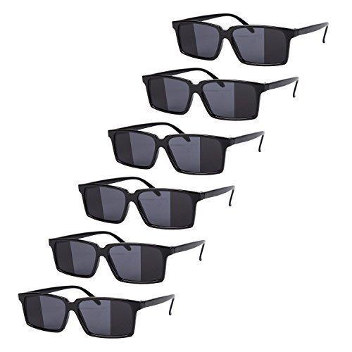 6 x Schwarz Spiegel Rückansicht Spy Brille