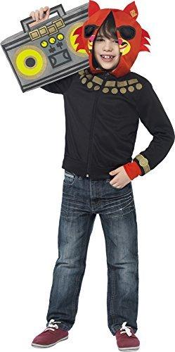 Smiffys Moshi Monsters Blingo Reißverschluss Top mit gepolsterter Kapuze und Tasche für Ghettoblaster, Rot
