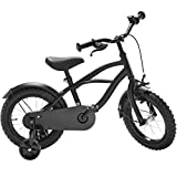 Black Cruiser 12 Zoll Fahrrad schwarz matt Kinderfahrrad Stützräder Jungen 1201G