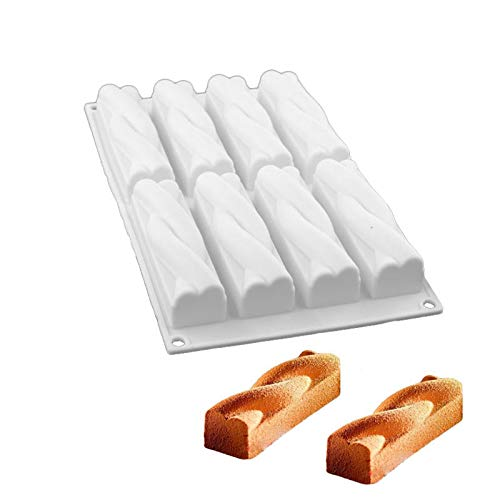 JIALI Kuchenform, Silikon Backform English Muffin Mould Butter Schokolade Sweet Cake Mould mit 8 Raum