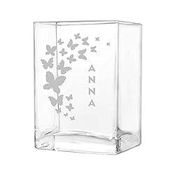 polar-effekt kleine Blumenvase Vase Personalisiert mit Gravur - Geschenkidee zur Hochzeit oder Muttertag - Motiv viele Schmetterlinge