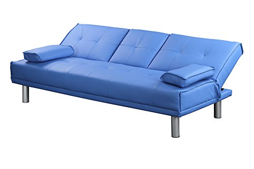 Divano Arancione E Marrone : Sleep design manhattan divano letto pieghevole in ecopelle 3