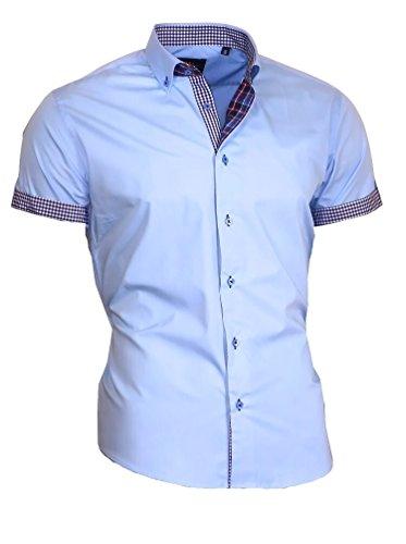Zum Shop · Louis Binder de Luxe Herren Hemd Shirt modern fit Kurzarm  Button-Down-Kragen 833 a8d1c7bf0f